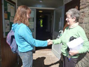 Warm greetings at Frenchay Quaker Meeting House